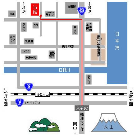 車での経路地図